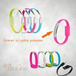 Bracelet USB chargeur et DATA