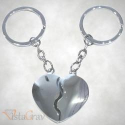Porte-clé Double Coeur Séparé